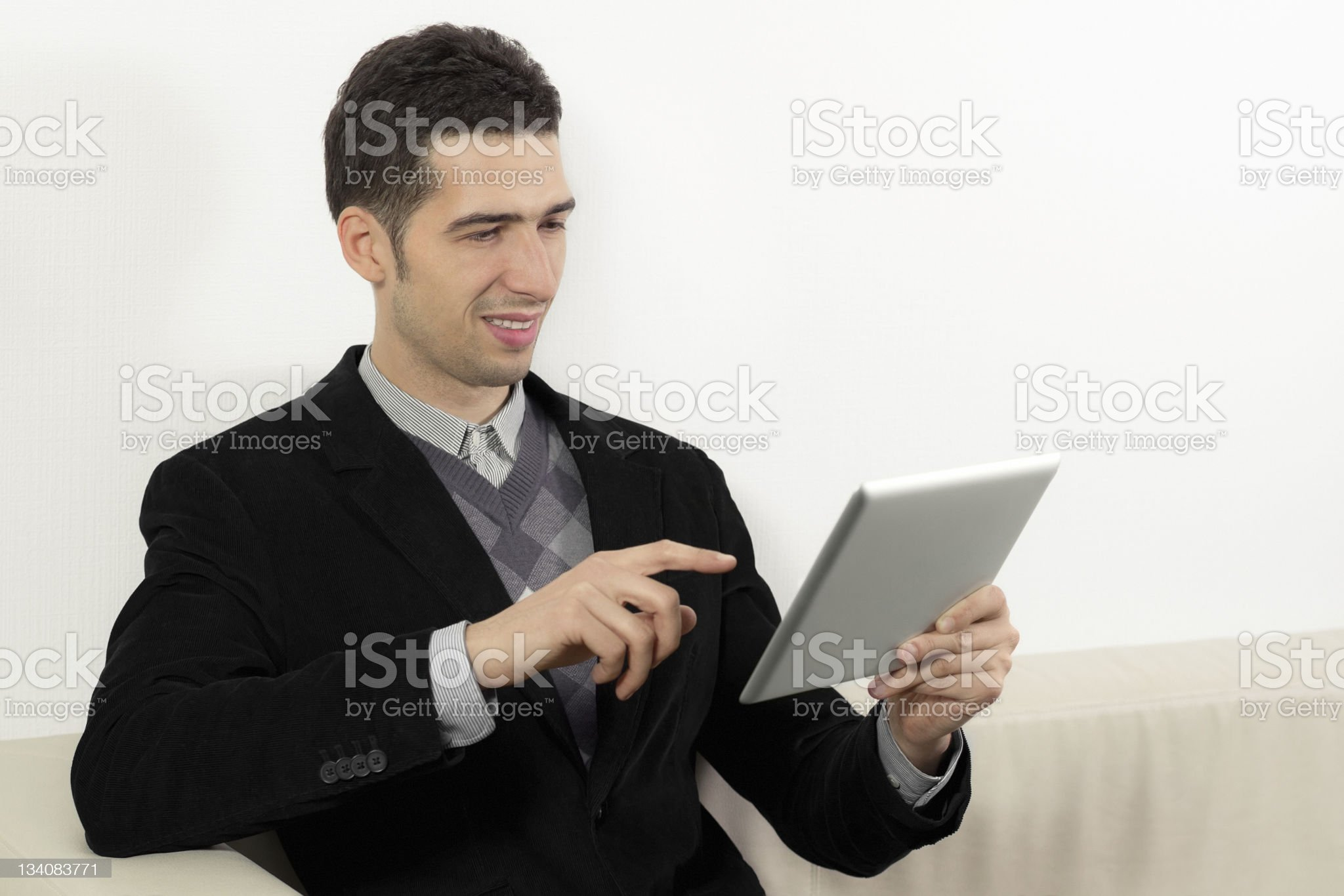 Businessman Using A Touch Screen Tablet royalty-free stock photo