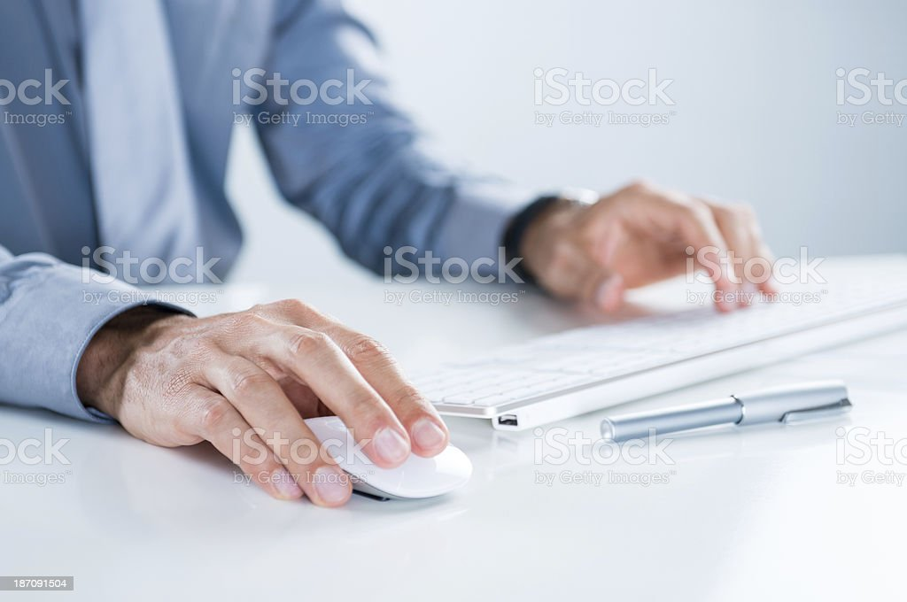 Businessman Using Computer stock photo