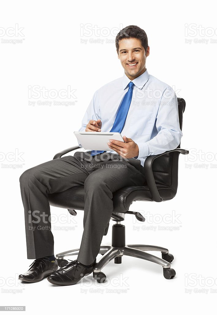 Businessman Using Digital Tablet - Isolated stock photo