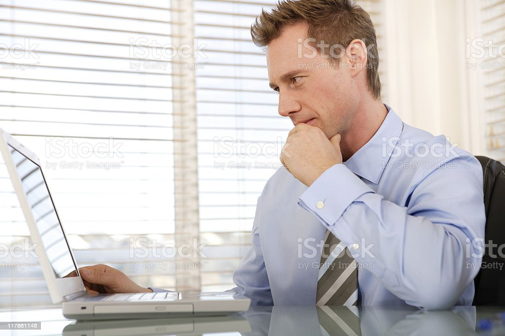 Businessman using laptop royalty-free stock photo
