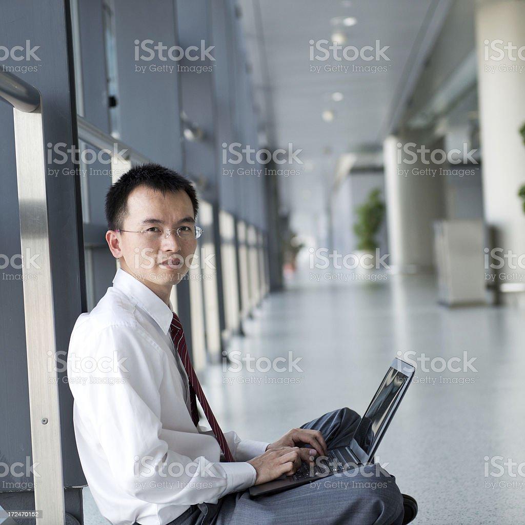 businessman using laptop royalty-free stock photo