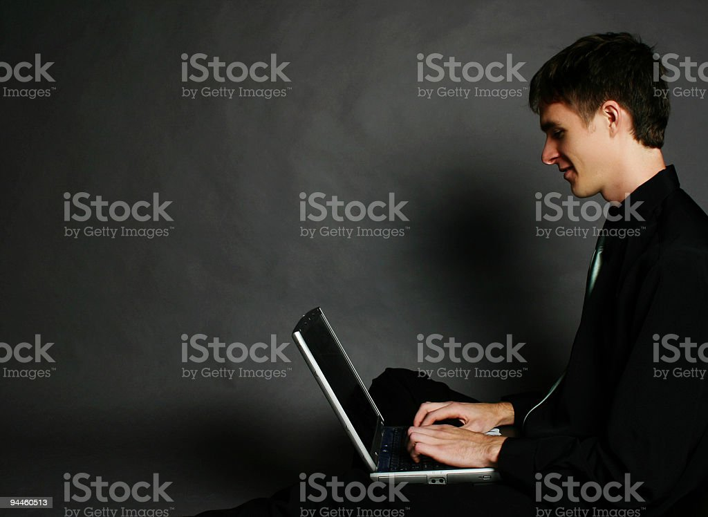 Businessman - Using laptop royalty-free stock photo