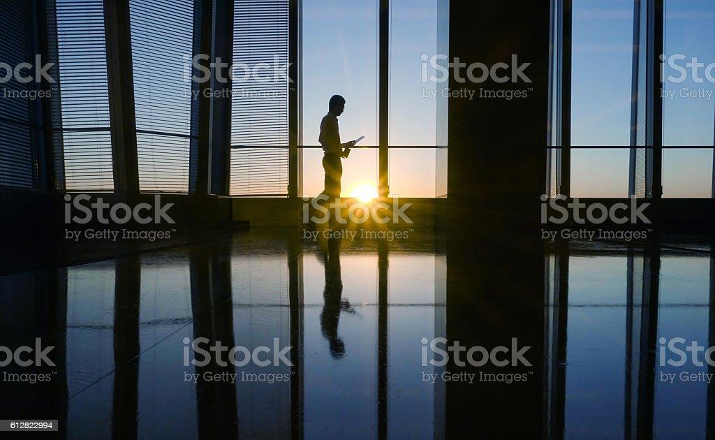 businessman using mobile phone stock photo
