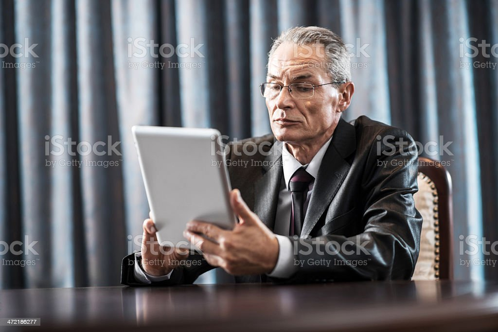 Businessman using touchpad. royalty-free stock photo