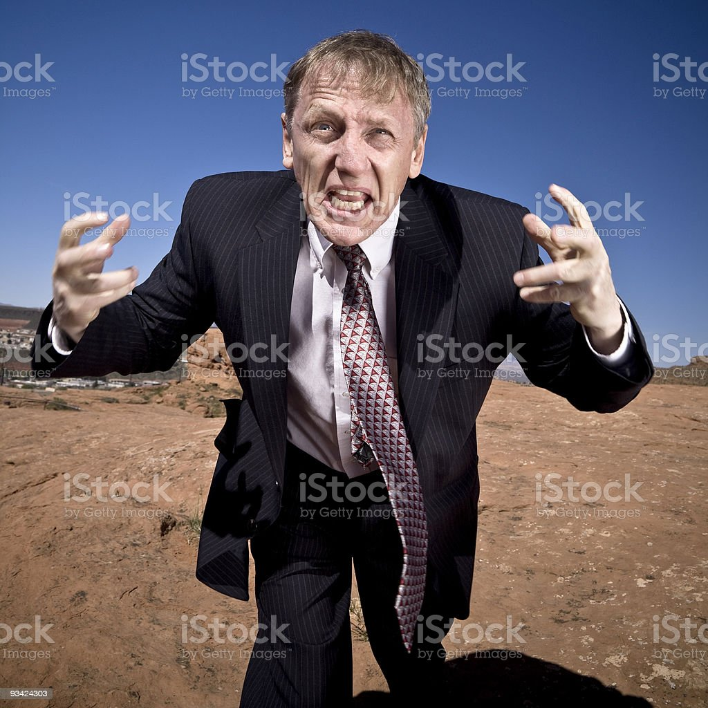 businessman wack out royalty-free stock photo