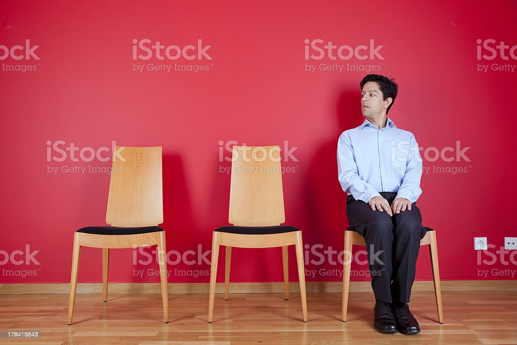 businessman waiting stock photo