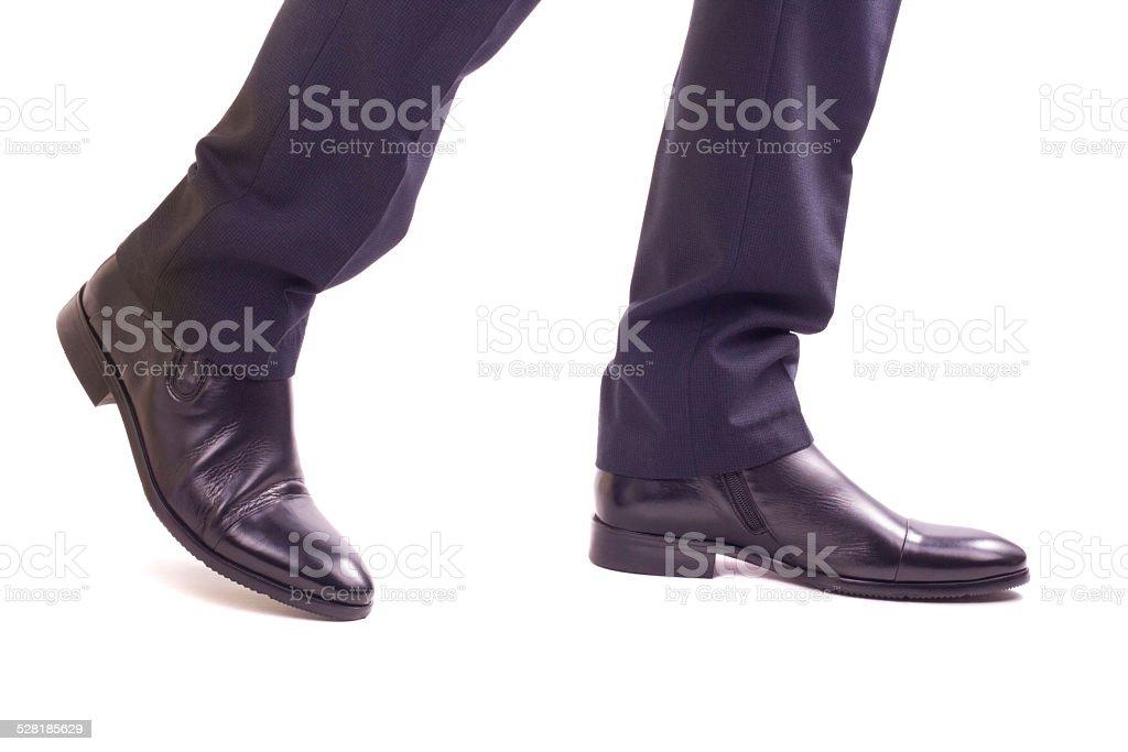 Businessman walking legs stock photo