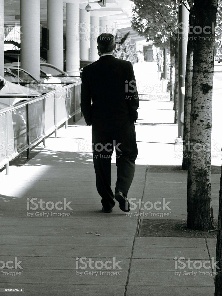 Businessman Walking stock photo