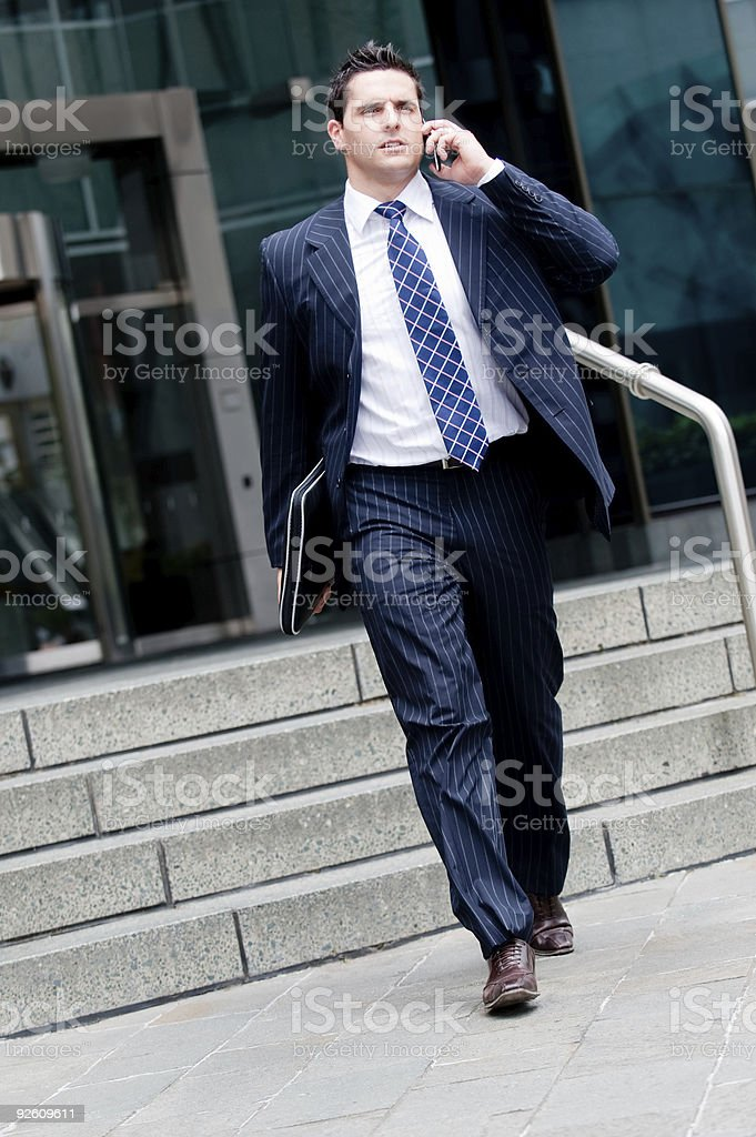 Businessman Walking royalty-free stock photo
