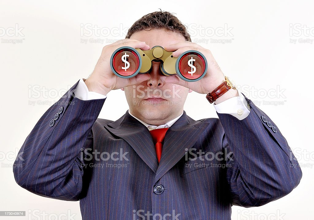 businessman watching the future royalty-free stock photo