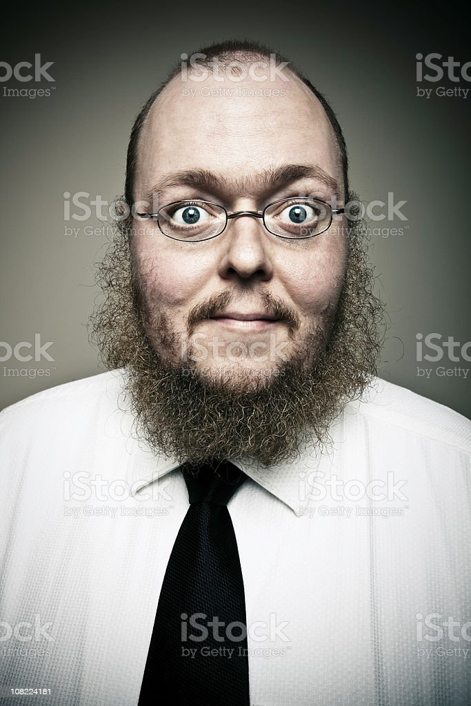 Businessman Wearing Glasses stock photo