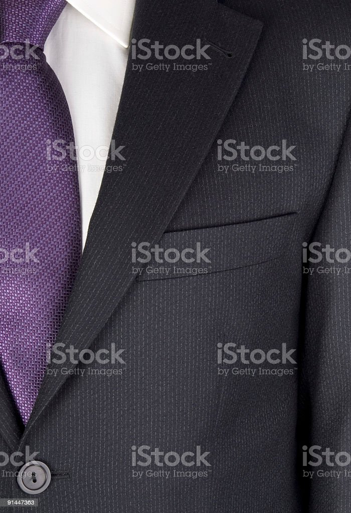 Businessman wearing suit, mid section, full frame, close-up stock photo