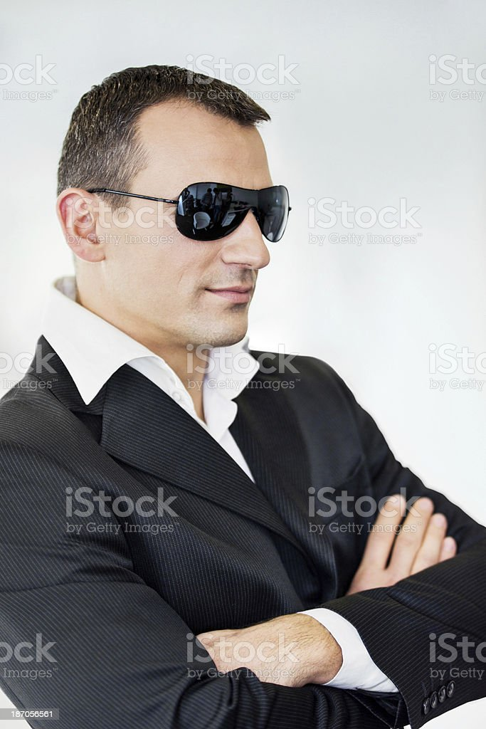 Businessman wearing sunglasses. royalty-free stock photo