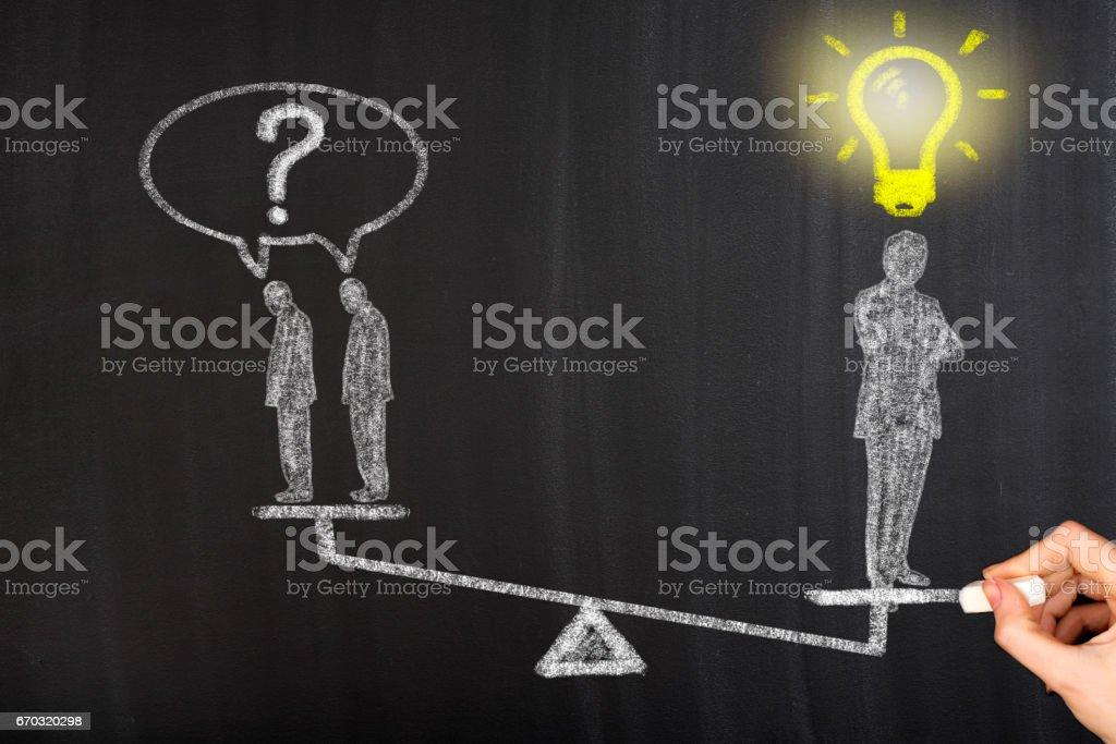 Businessman whit idea stock photo