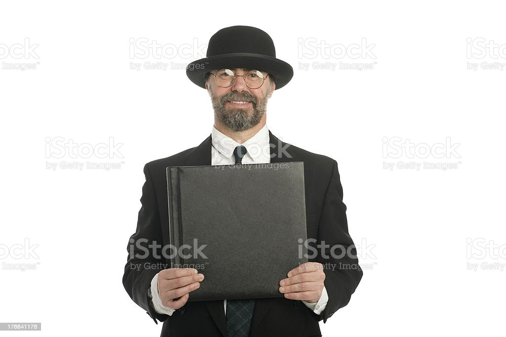 Businessman with a book royalty-free stock photo