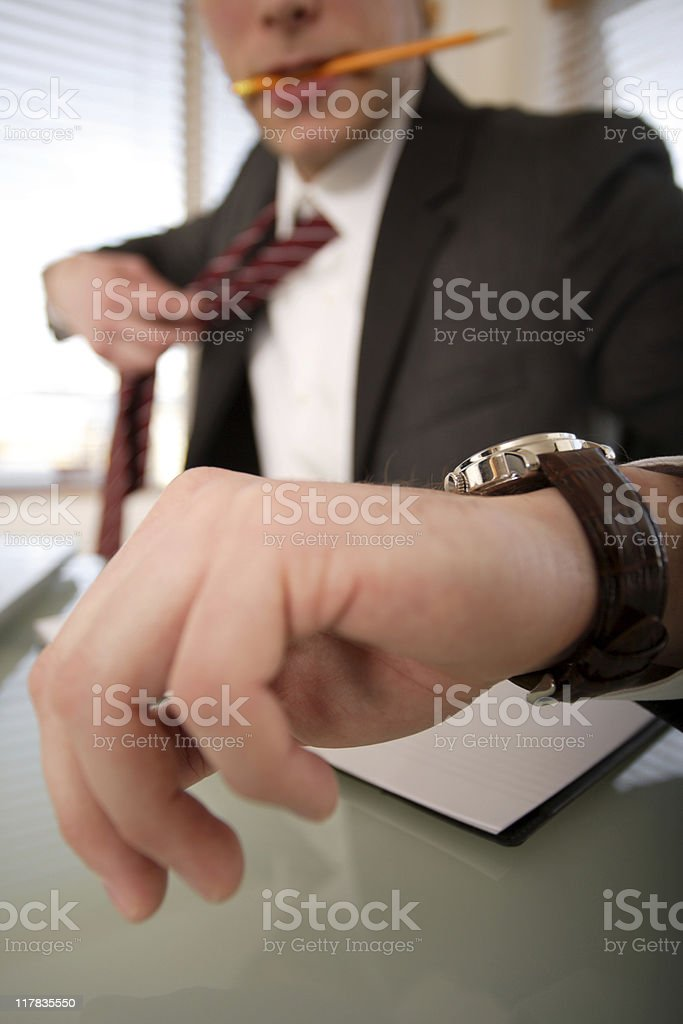 Businessman with a deadline royalty-free stock photo