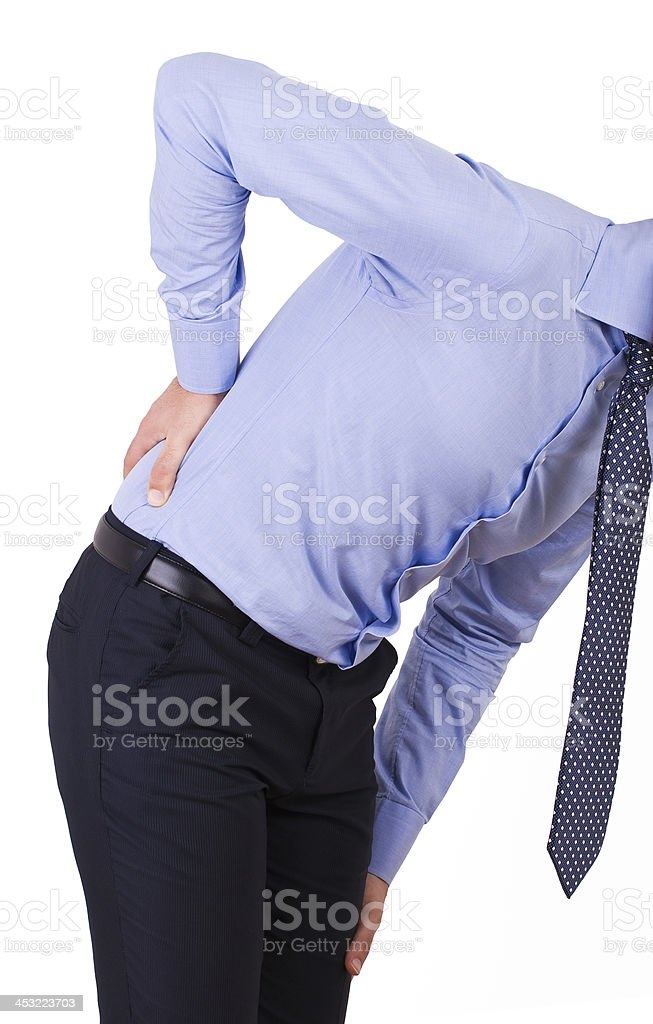 Businessman with aching back. royalty-free stock photo
