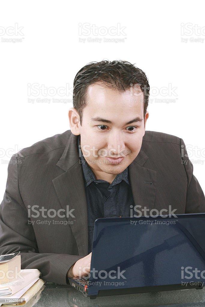 Businessman with amazed expression royalty-free stock photo