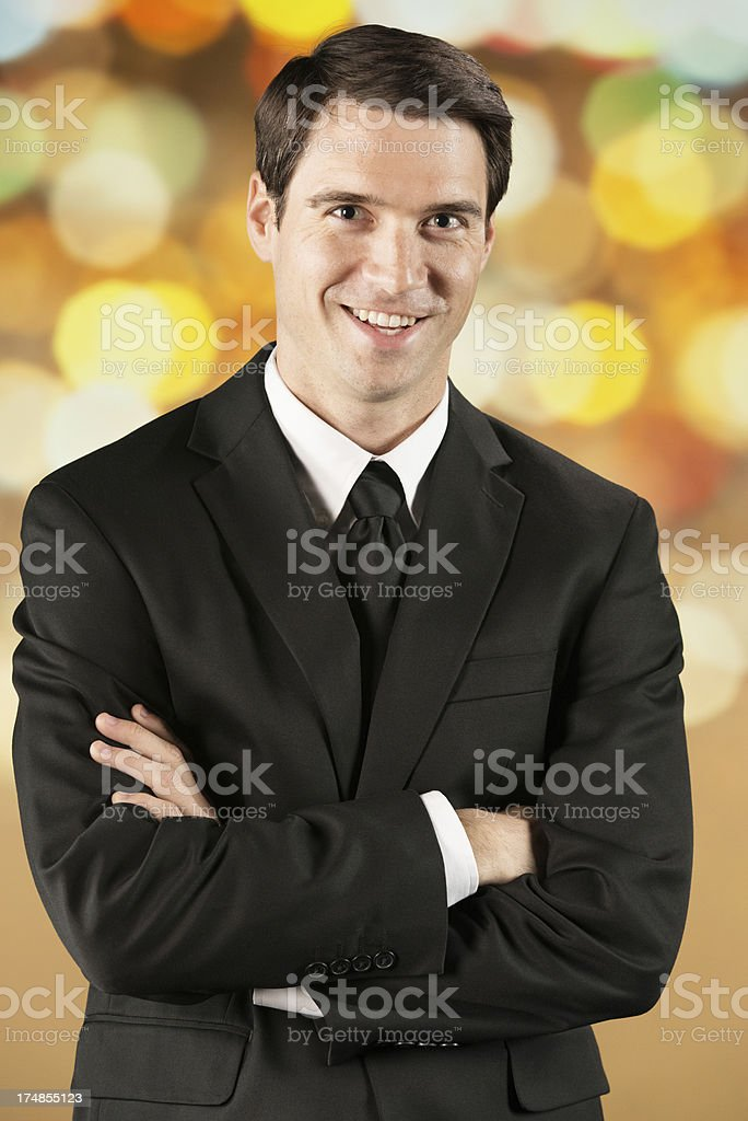 Businessman with arms crossed royalty-free stock photo