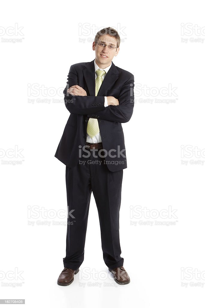 Businessman with Arms Folded royalty-free stock photo