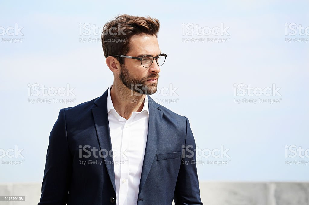 Businessman with beard stock photo