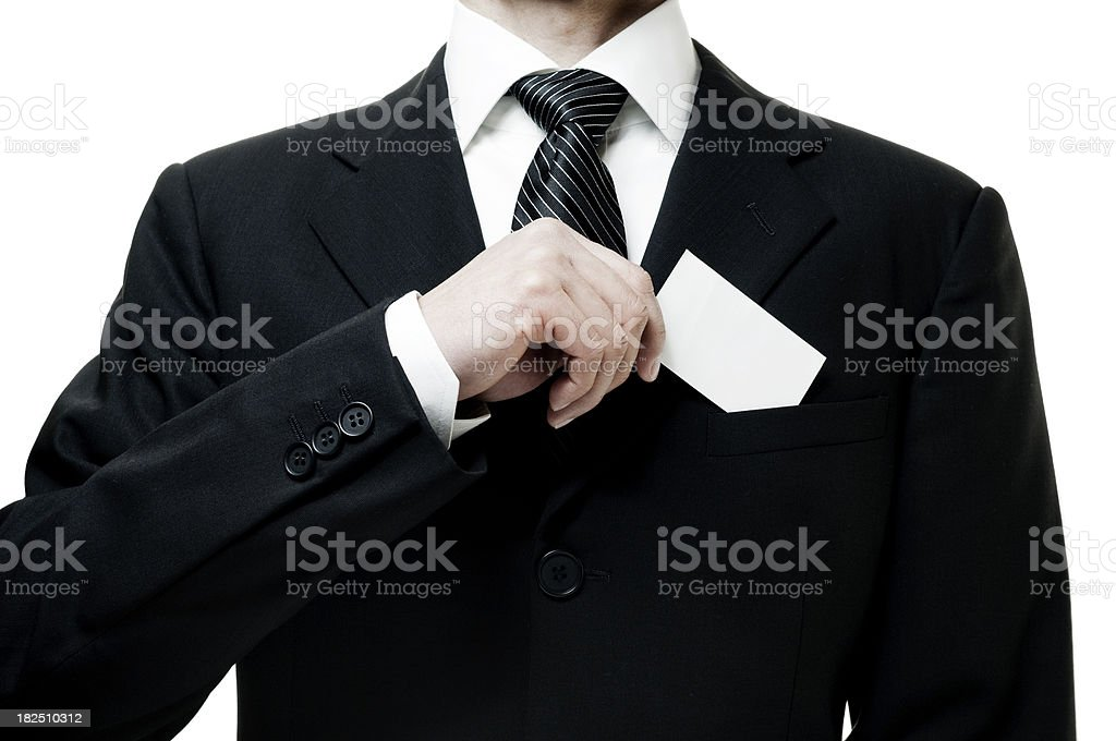 Businessman with blank card royalty-free stock photo
