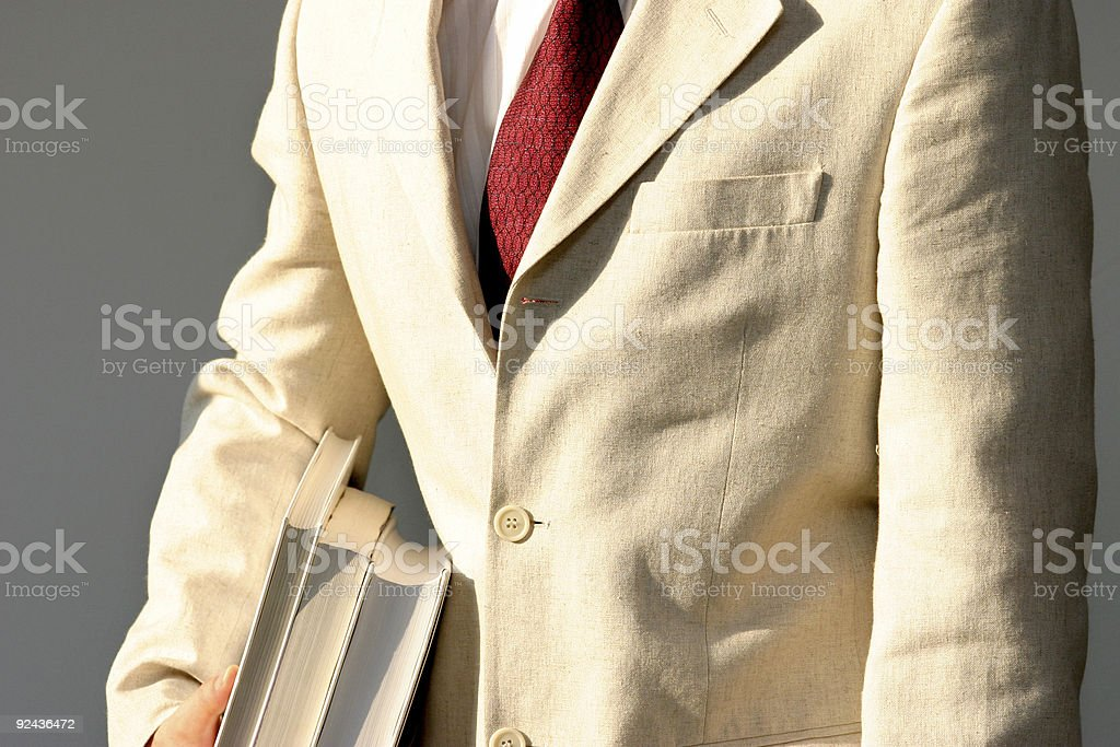 Businessman with books royalty-free stock photo