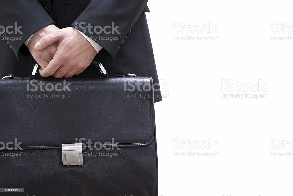 businessman with briefcase royalty-free stock photo