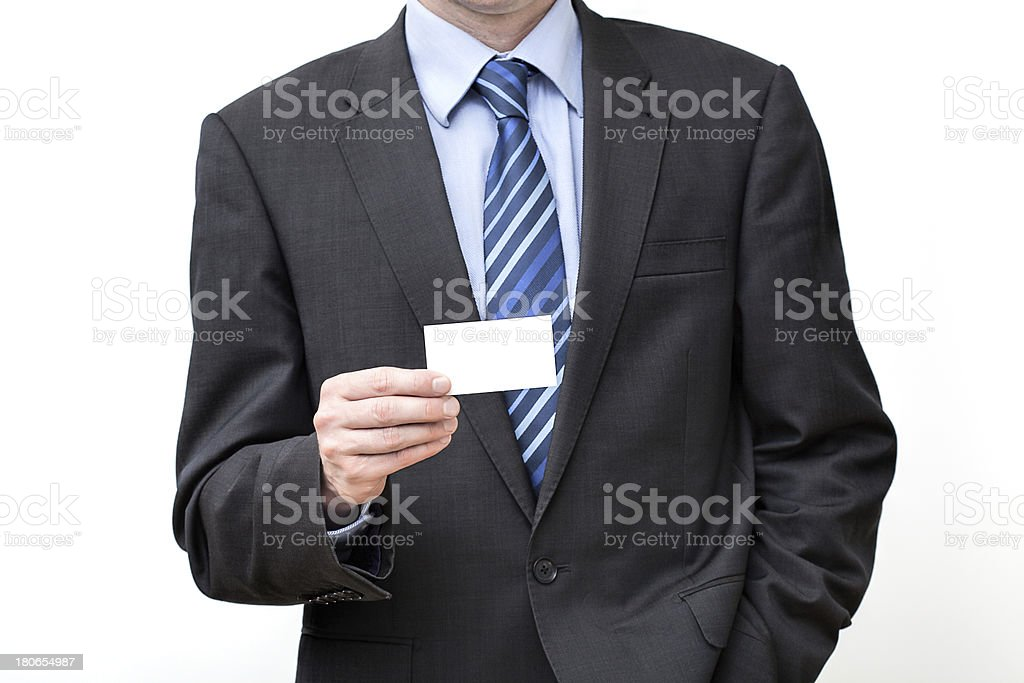 Businessman with card royalty-free stock photo