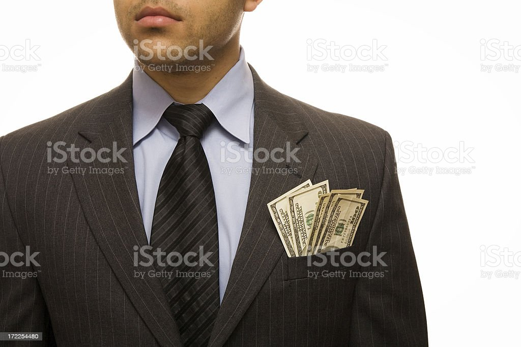 Businessman with cash royalty-free stock photo