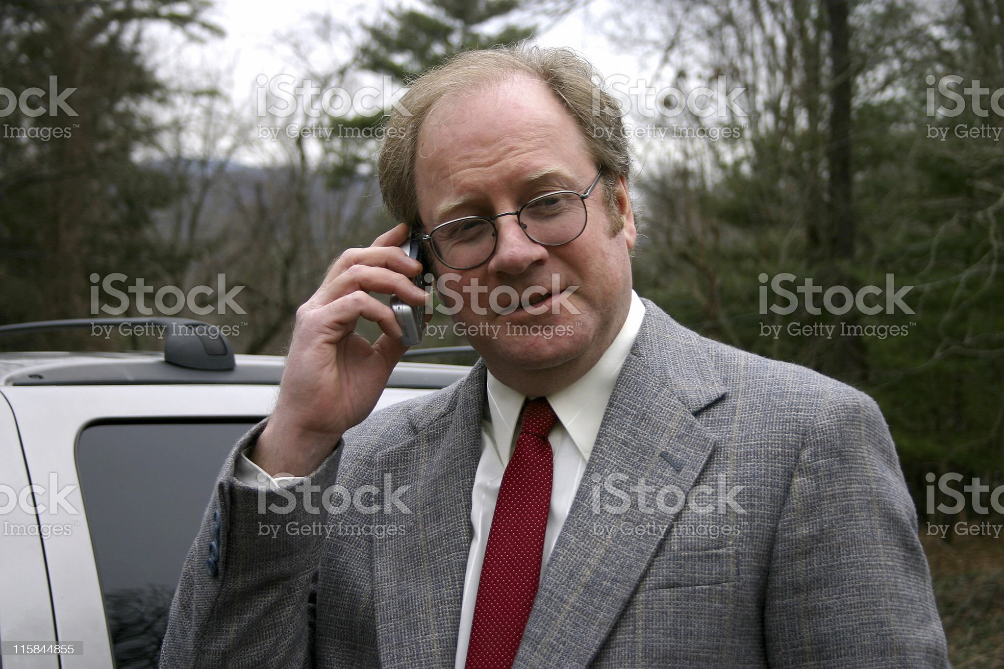 Businessman with Cell phone royalty-free stock photo