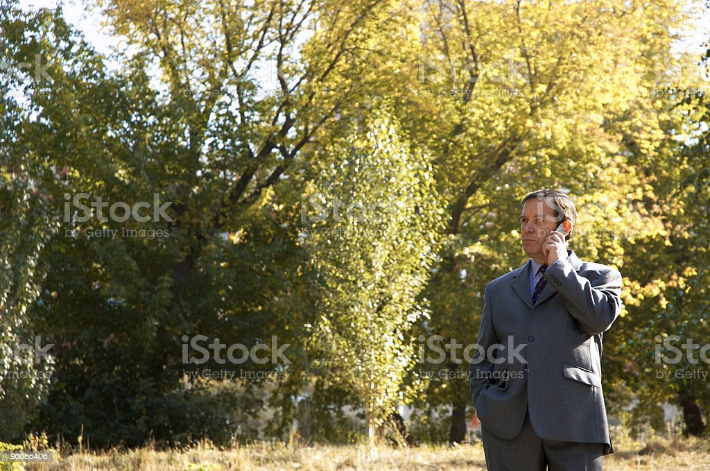 businessman with cell-phone royalty-free stock photo