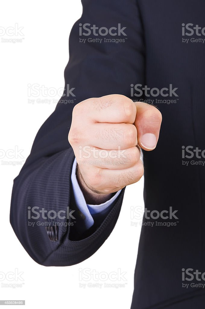 Businessman with clenched fist. royalty-free stock photo