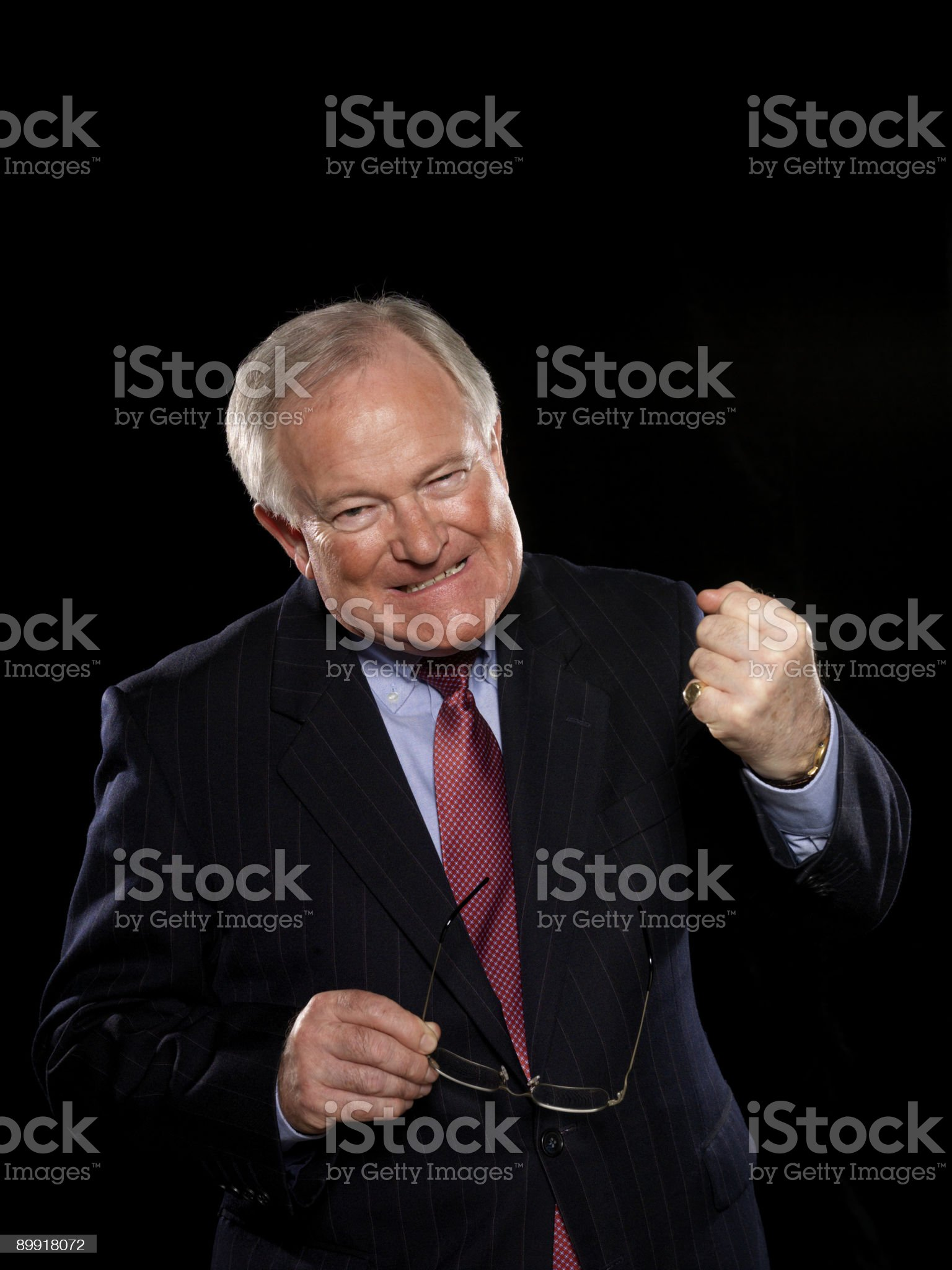 Businessman with clenched fist royalty-free stock photo