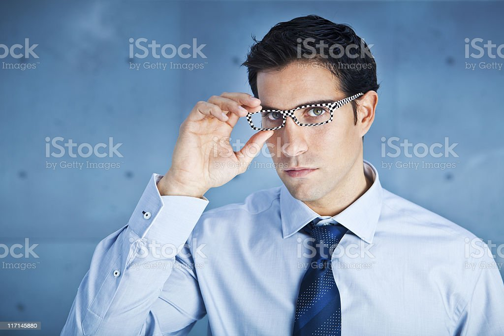 Businessman with cool glasses royalty-free stock photo