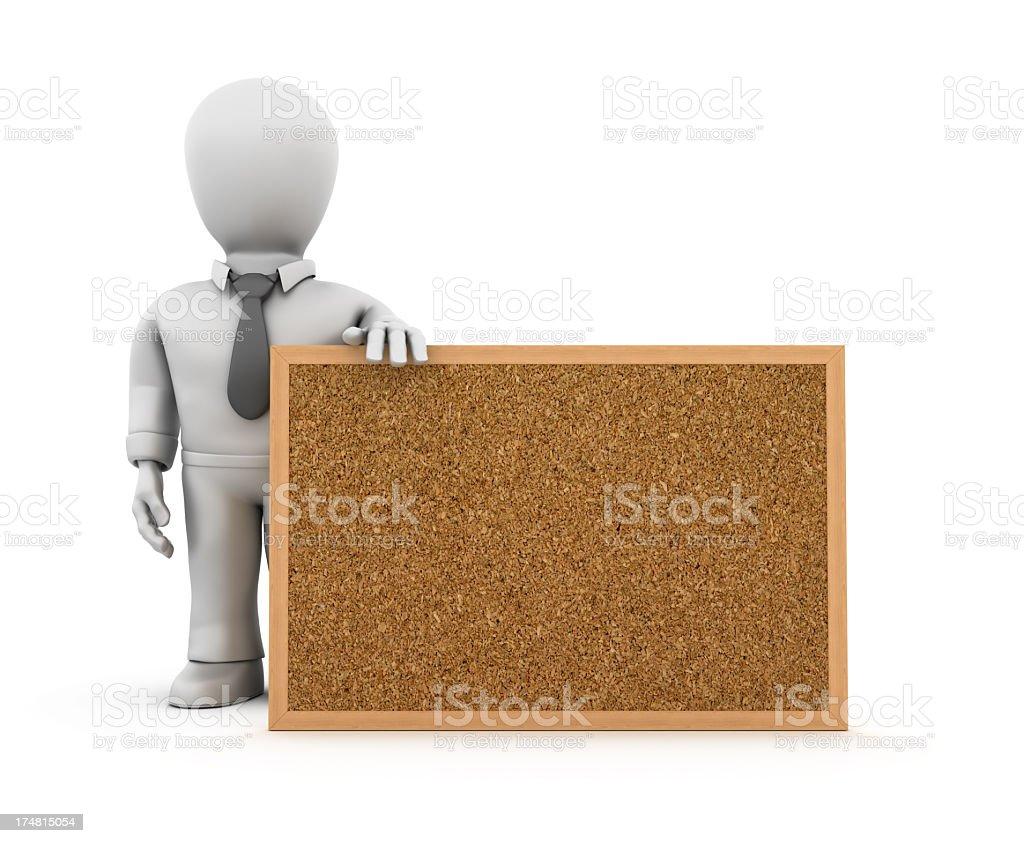 Businessman with Corkboard royalty-free stock photo