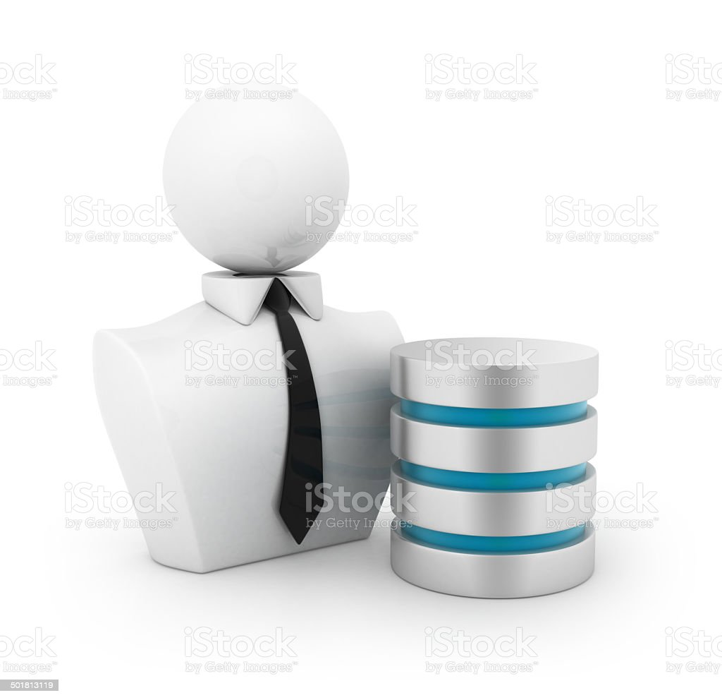 Businessman with data base concept stock photo