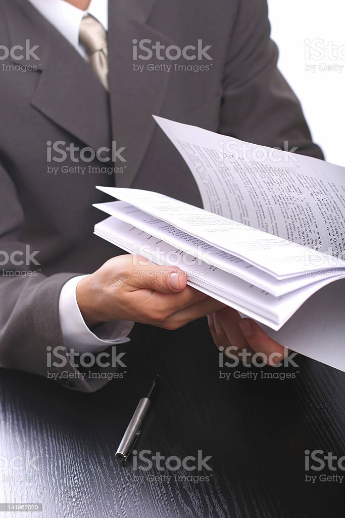 businessman with documents royalty-free stock photo