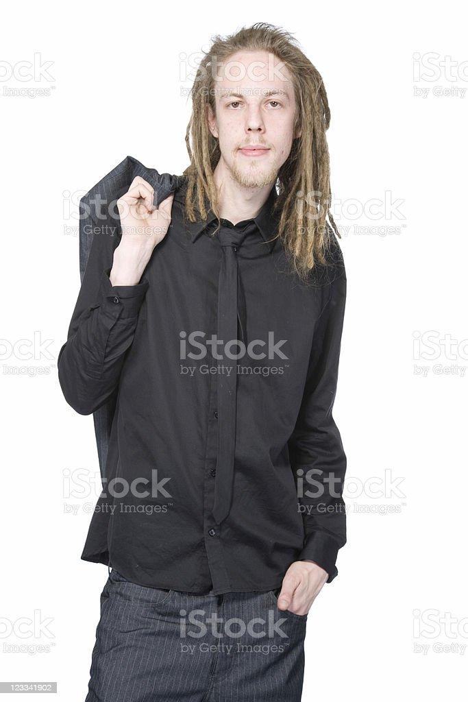 Businessman With Dreadlocks stock photo