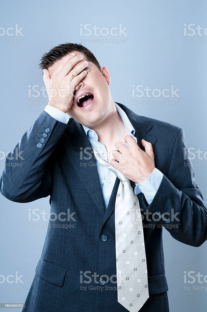 Businessman with emotional stress royalty-free stock photo