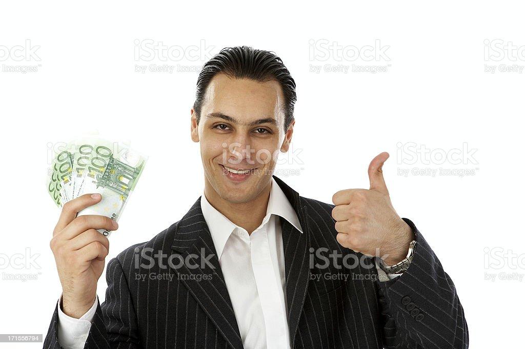 Businessman with Euros royalty-free stock photo