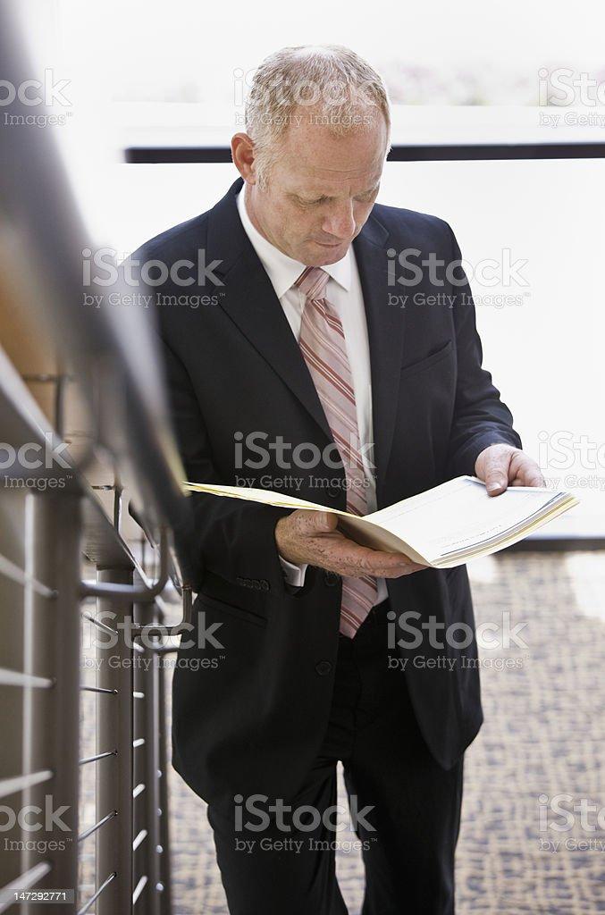 Businessman With Folder royalty-free stock photo