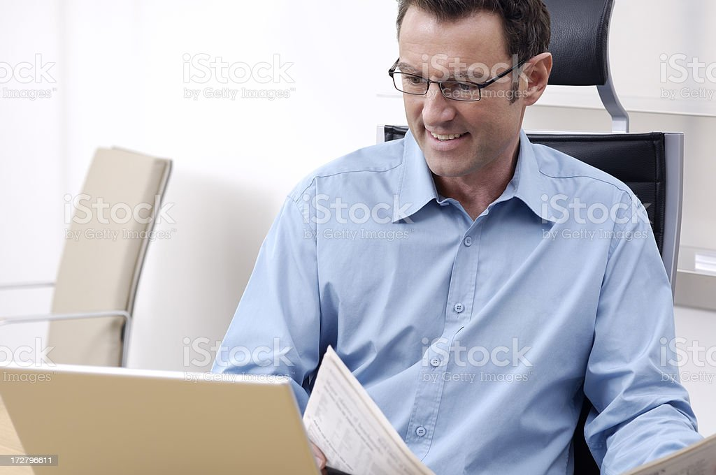 Businessman with glasses royalty-free stock photo