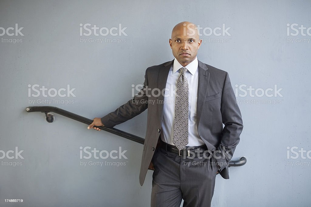 Businessman With Hand In Pocket royalty-free stock photo