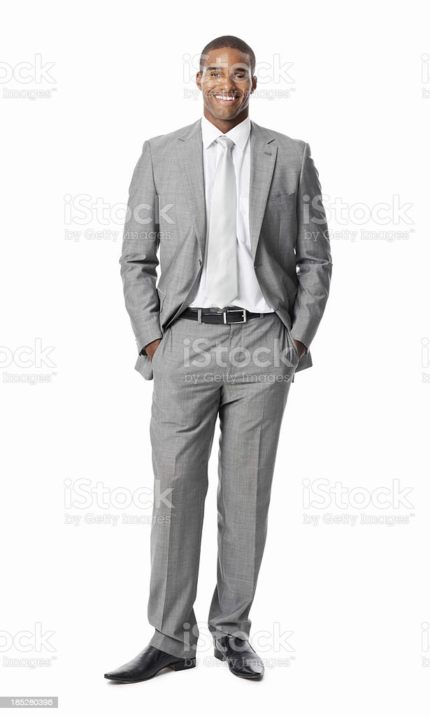 Businessman With Hands In Pockets - Isolated royalty-free stock photo
