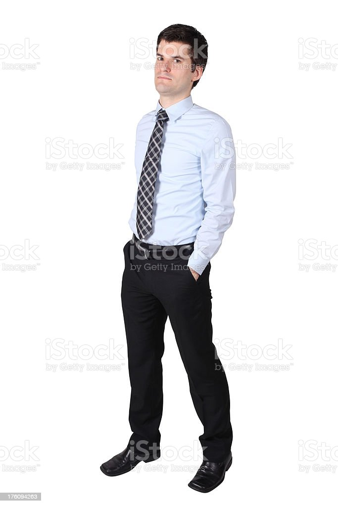 Businessman with hands in pockets royalty-free stock photo