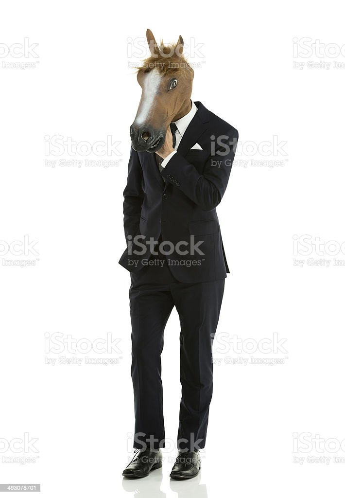 Businessman with horse head royalty-free stock photo