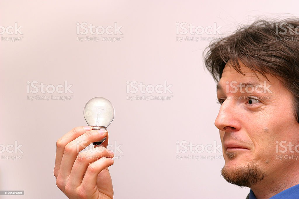 Businessman with idea royalty-free stock photo