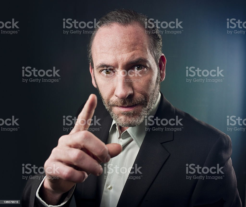 Businessman with ideas royalty-free stock photo