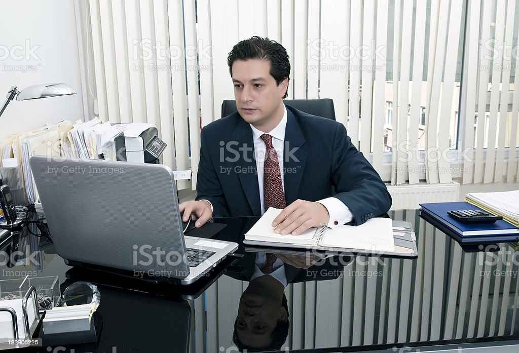 Businessman with laptop royalty-free stock photo